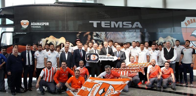 Adanaspor'un takım otobüsü de Temsa Maraton oldu