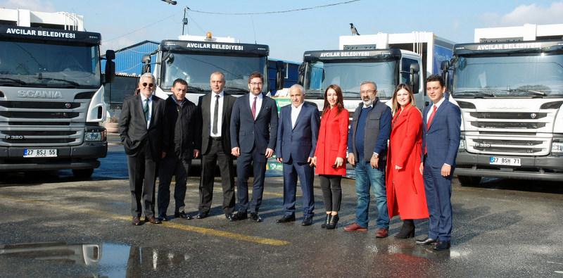 Avcılar'a 8 adet Scania P320 teslimatı