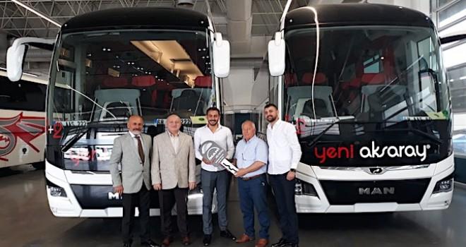 Yeni Aksaray Seyahat filosunu 2 adet, 13 metre 2+1 MAN Lion's Coach ile güçlendirdi