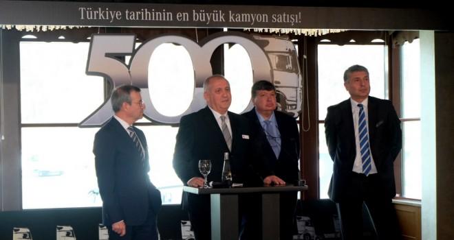 Türkiye'nin en büyük kamyon teslimatı gerçekleşti: 500 ADET ACTROS ALDI