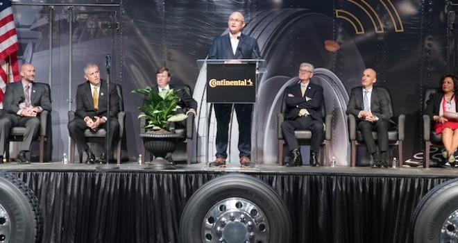 Continental Mississippi'deki yeni lastik fabrikasını açtı