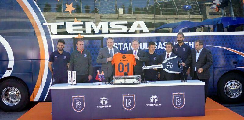 Başakşehir'in takım otobüsü Maraton VIP oldu