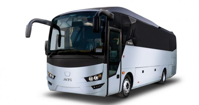 AOS ilk sağdan direksiyonlu otobüsünü  Euro Bus Expo Fuarı'nda sergiliyor