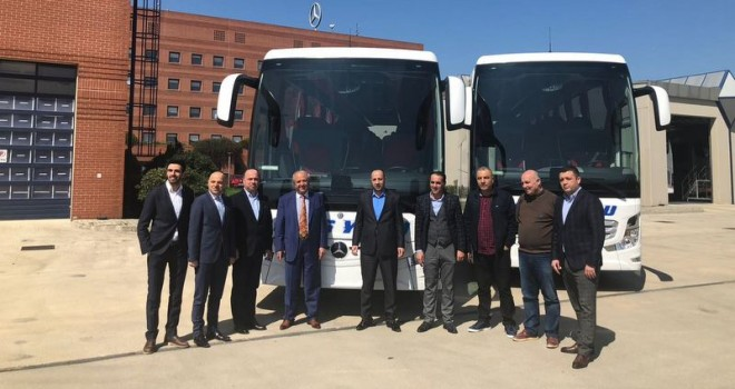 Otobüs filosuna 1 adet Travego, 1 adet de Tourismo kattı