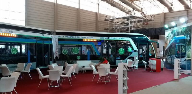 Bozankaya'nın yeşil otobüsleri İzmir Fuarı'nda