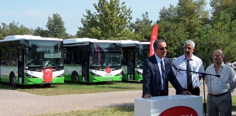 Bursa'ya 63 adet otobüs teslim etti!