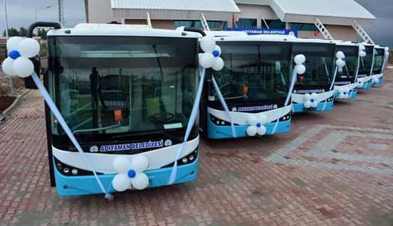 Adıyaman'a 6 adet Citibus otobüs teslim etti