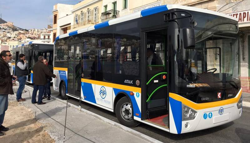 Karsan'dan Yunanistan'a 2 Atak otobüs