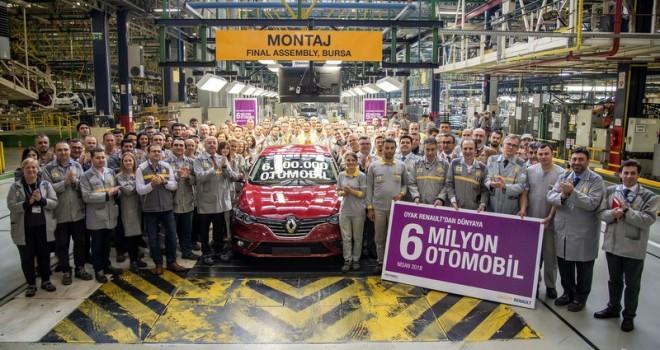 Oyak Renault, 6 milyonuncu otomobilini üretti