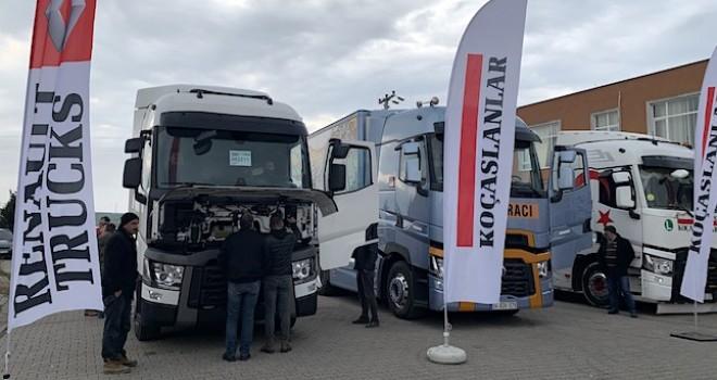 Renault Trucks'ın 13 litre motorlu çekicilerinin Roadshow'u devam ediyor