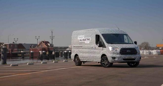 Tam elektrikli yeni Ford Transit'in seri üretimine 2021'da başlanacak