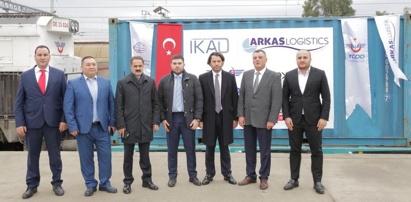 Demir İpek Yolu'nda Türkiye'den ilk tren yola çıktı