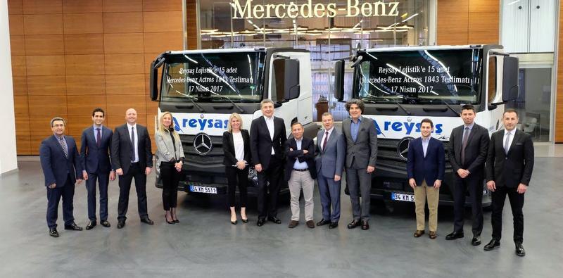 Dev lojistik firması 27 yılda 4 bin 845 adet Mercedes-Benz aldı