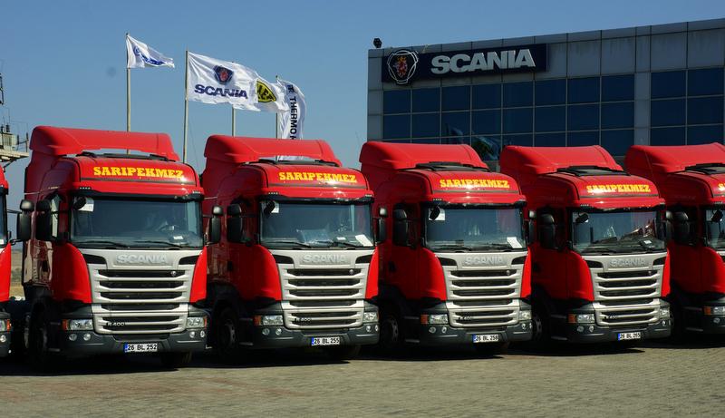 42 yıllık nakliyeci 20 adet Scania çekici aldı
