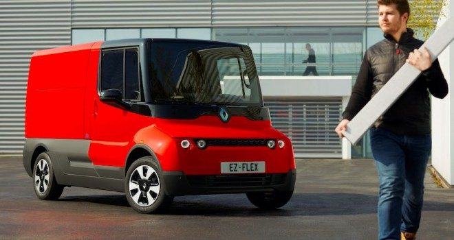 Şehiriçi dağıtım için tasarlanan Renault EZ-FLEX, elektrikli ve internet bağlantılı