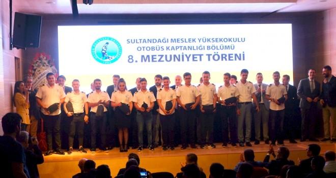 AKÜ Sultandağı Meslek Yüksekokulu Otobüs Kaptanlığı Bölümü 8. mezunlarını verdi
