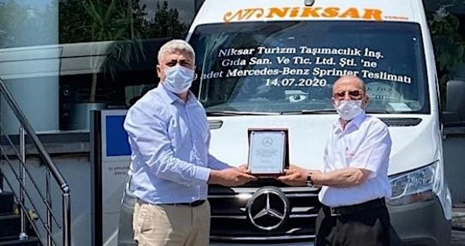 Mercedes-Benz'ten Niksar Turizm'e 20 adet Sprinter