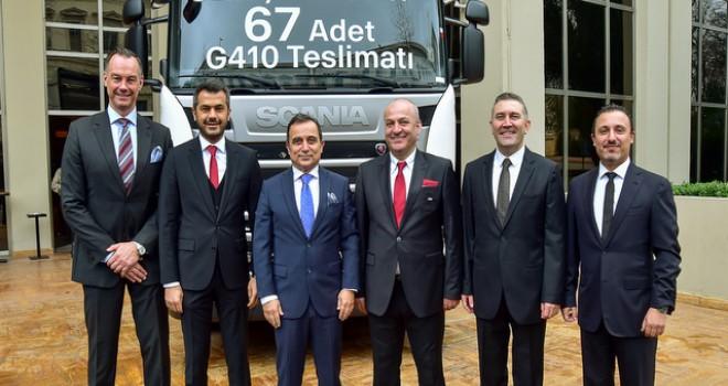 Dev projeler için 67 adet Scania aldı