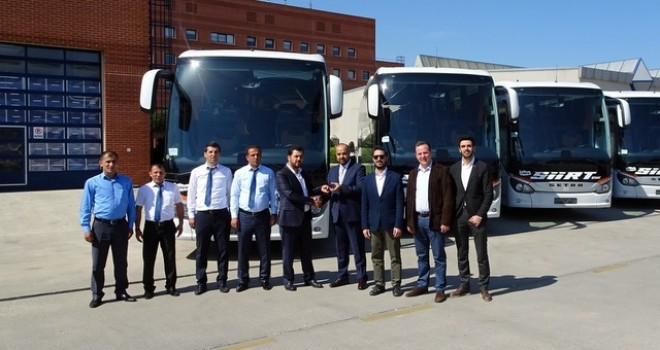 4 firmaya 6'sı Setra toplam 12 adet otobüs teslim etti