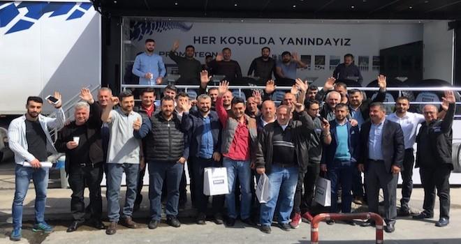 Prometeon Türkiye, 25 noktada 7 bin 500 kamyon sürücüsü ile bir araya geldi