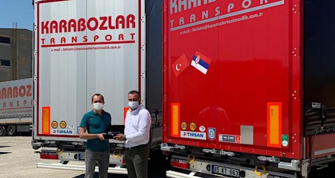 Karabozlar Transport filosuna 4 adet Tırsan Perdeli Mega treyler ekledi