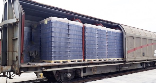 Arkas Lojistik, Türkiye'de ilk kez cam şişe taşımasını demiryolu ile yapan şirket oldu