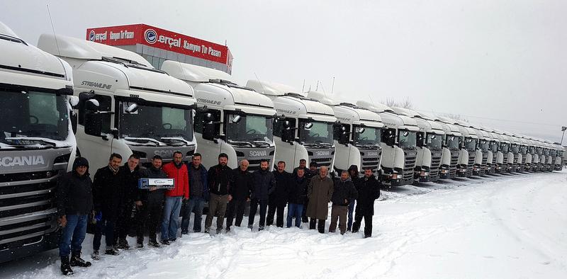 Filosunun tamamını Scania çekicilerle yeniledi