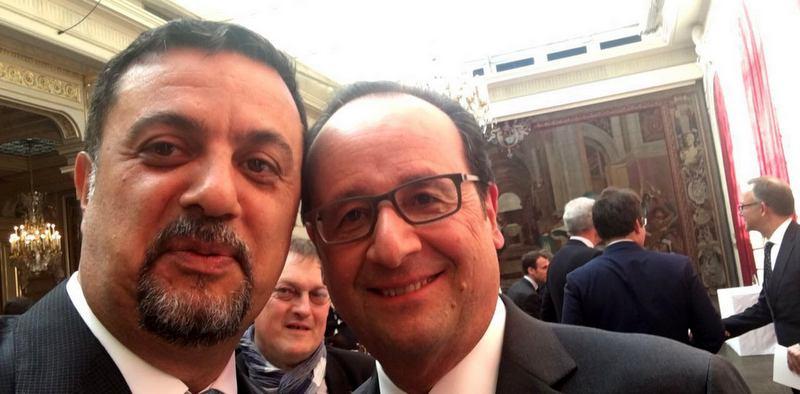 Fransa Cumhurbaşkanı Hollande'a Ekol Lojistik'in intermodal projesini anlattı