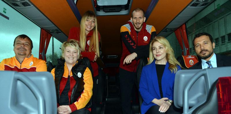 Galatasaray Basketbol Takımının yeni otobüsü Temsa Safir oldu