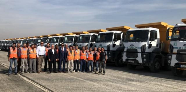 İstanbul-İzmir Otoyolu inşaatında çalıştırmak için 30 adet Ford Trucks aldı