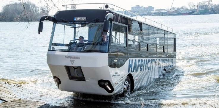 İşte Almanya'nın ilk amfibi otobüsü