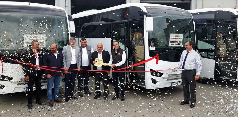 Isuzu'dan Samsun Vezirköprü'ye Novolux otobüs teslimatı