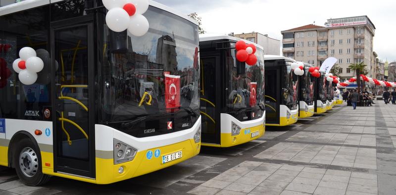 Karsan, Bursa'ya 33 adet araç teslim etti