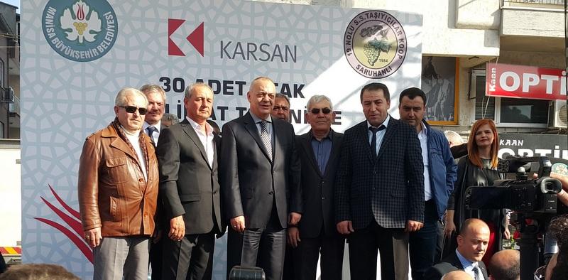 Karsan'dan Manisa'ya 30 adet Atak otobüs