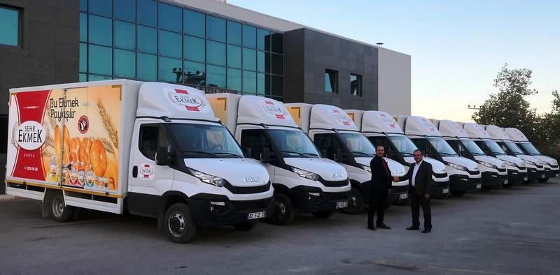 Konya Büyüksoylu Otomotiv, Şehrekmek Unlu Mamulleri'ne 11 Adet Daily Teslim Etti