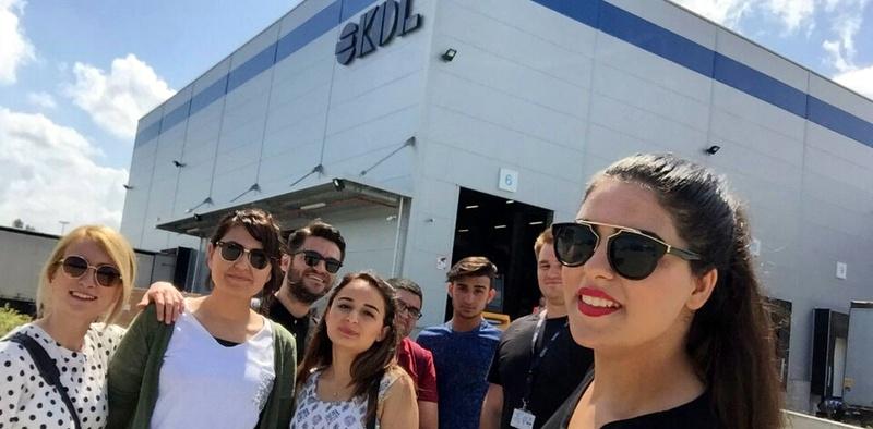 Lojistik öğrencileri Ekol Lojistik'in Macaristan tesislerini ziyaret etti