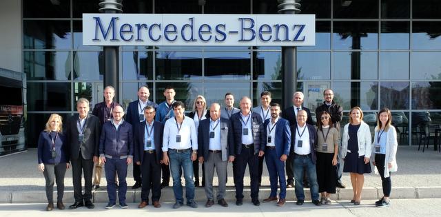 Lojistik şirketlerinin yöneticileri Aksaray Kamyon Fabrikası'nı ziyaret etti