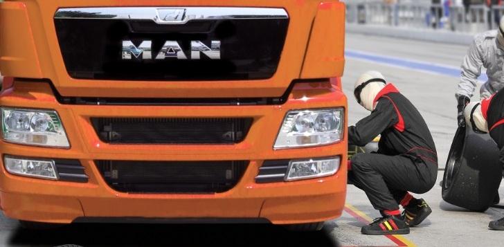 MAN, 2. el kamyon alana lastikleri ve jantları hediye ediyor