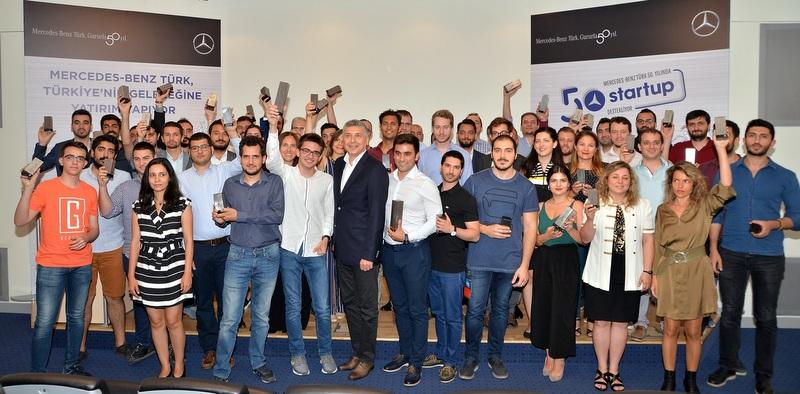 Mercedes-Benz Türk 50 startup'a 500.000 TL destek verdi