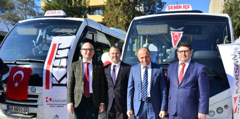 Milas'a 47 adet Jest minibüs teslim etti