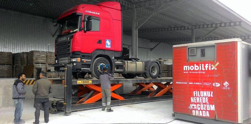Mobil TIR servisi Mobilfix, 296 araç ve 1.863 lastik bakımı yaptı