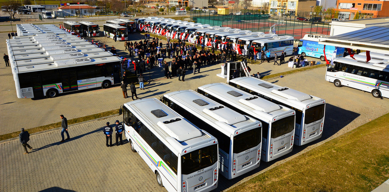 Otokar, Muğla'ya 33 adet otobüs teslim etti