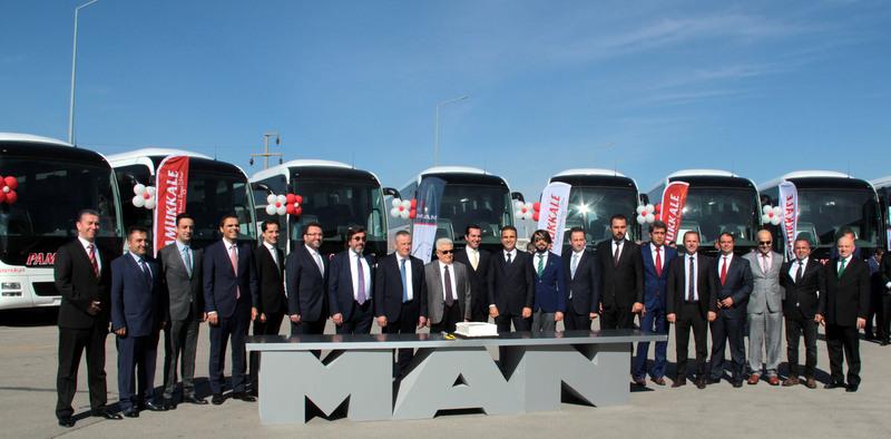 Pamukkale Turizm, 100 adet otobüs sipariş etti, 50 adedini teslim aldı