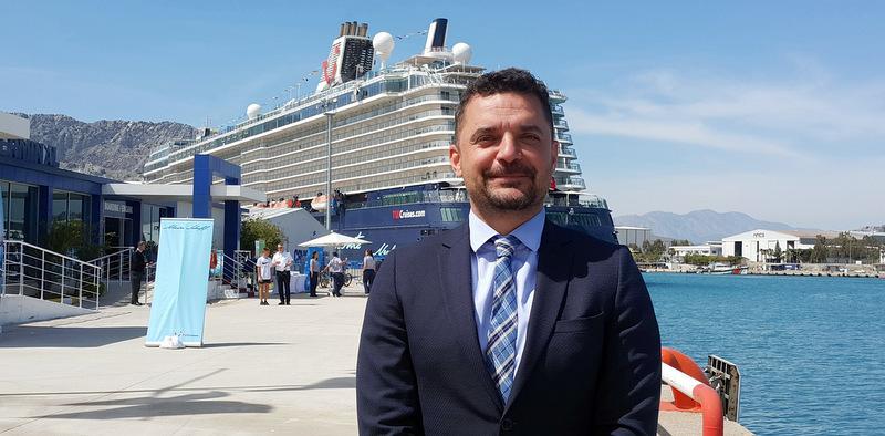 Port Akdeniz'e sezonun ilk kruvaziyer gemisi geldi