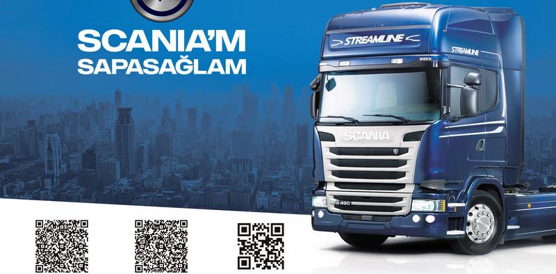 Scania aracının fotoğrafını çek, yükle serviste avantaj kazan!