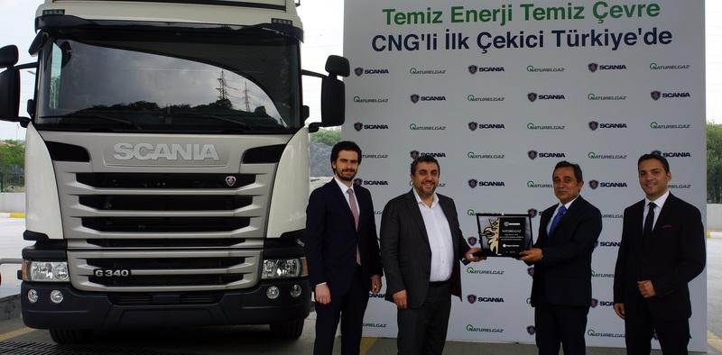 Scania ve Naturelgaz Türkiye'de bir ilke imza attı