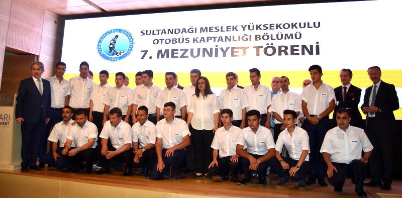 Sultandağı MYO Otobüs Kaptanlığı Bölümü 7'inci mezunlarını verdi