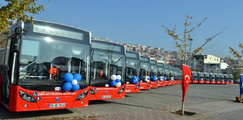 Temsa'dan İzmir'e 110 adetlik dev otobüs teslimatı