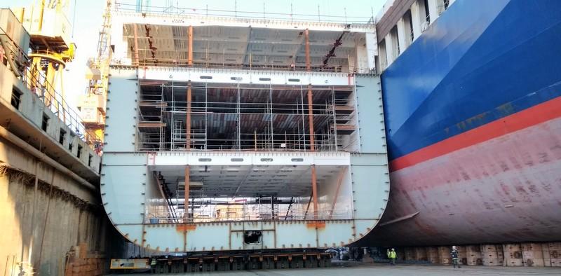 UN Ro-Ro'nun 1.300 tonluk gemi bloğunun nakliyesini üstlendi