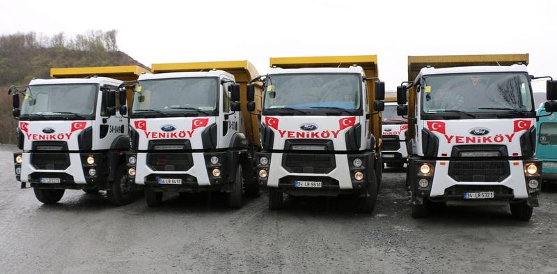 Yeniköy Hafriyat, 15 adet Ford Trucks aldı